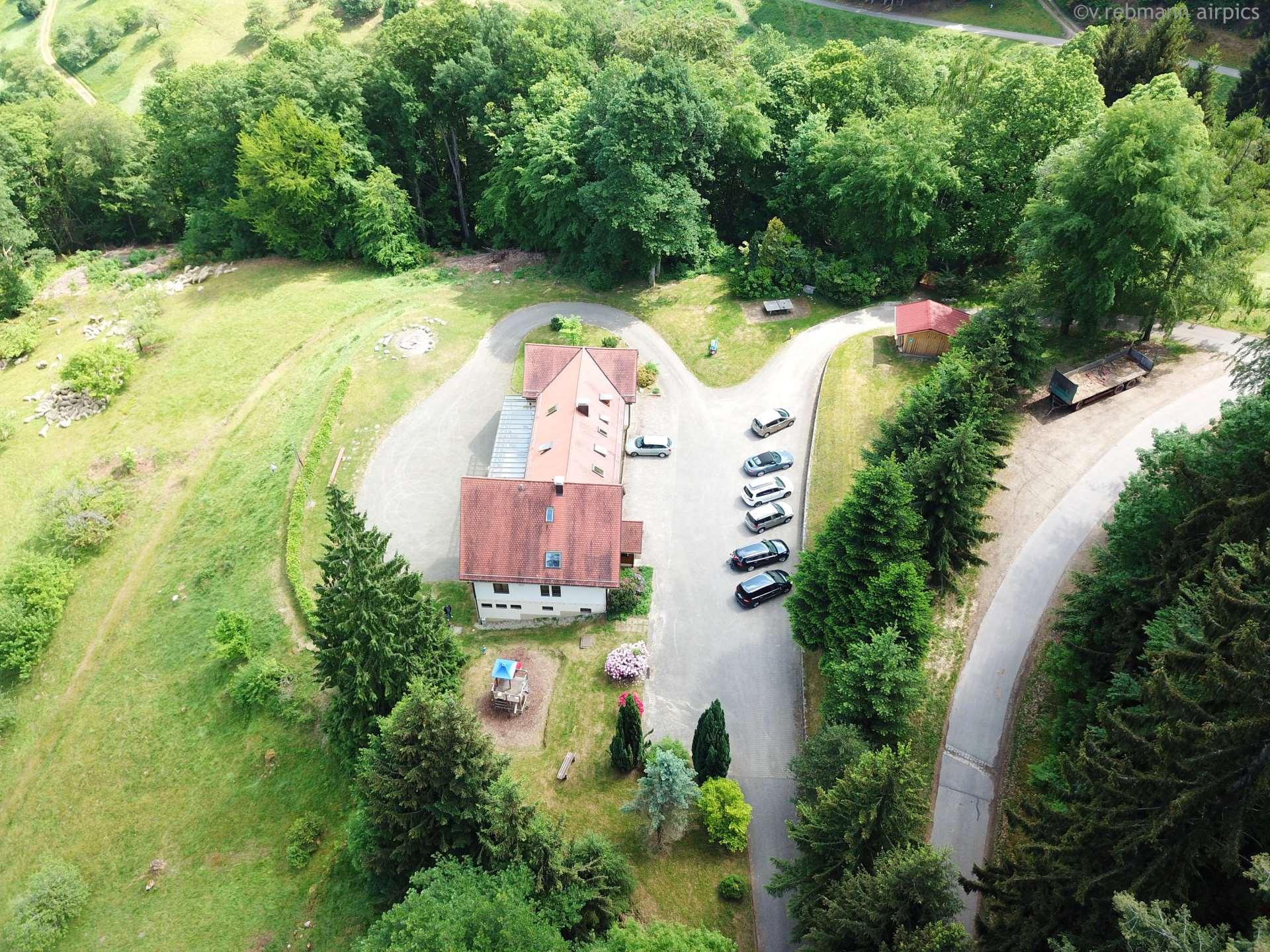 Einfahrt zum Kolpinghaus (Luftbild)