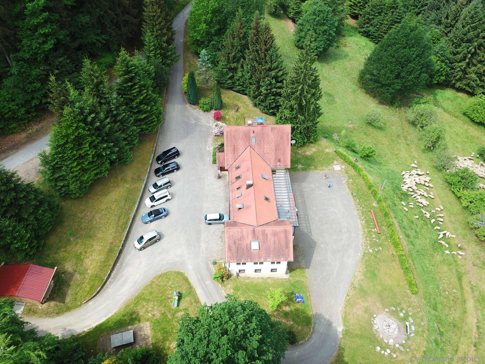 Seitenansicht des Kolpinghaus (Luftbild)